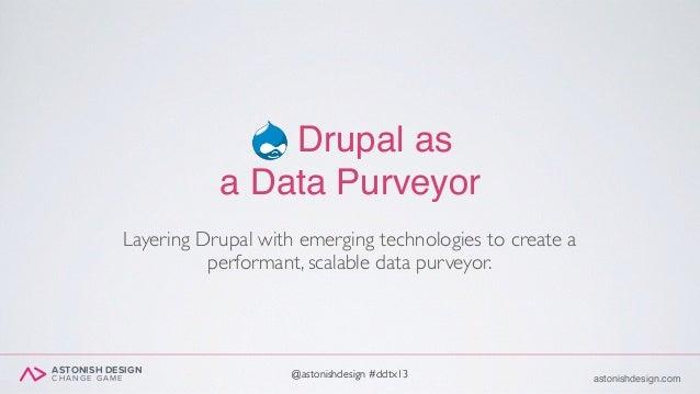 ASTONISH DESIGN C H A N G E G A M E astonishdesign.com@astonishdesign #ddtx13@astonishdesign #ddtx13 Drupal as a Data Purv...