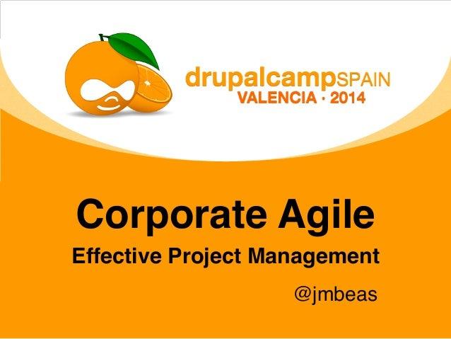 Corporate Agile Effective Project Management @jmbeas