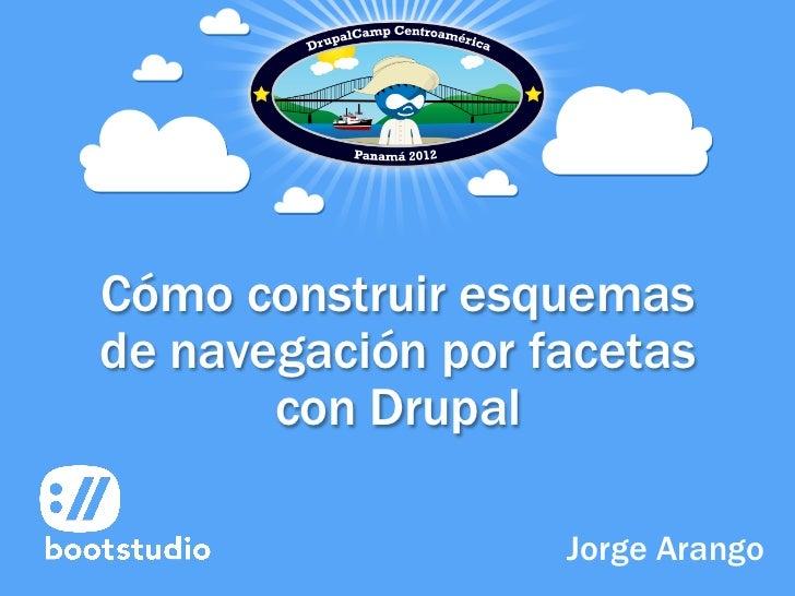 Cómo construir esquemasde navegación por facetas       con Drupal                   Jorge Arango