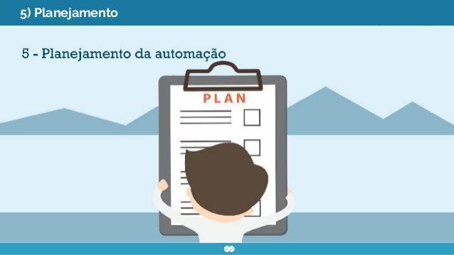 5) Planejamento ● Organizar os itens coletados para decisão de como a automação será implantada ● Estabelecer metas e cron...