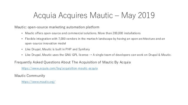 """Acquia Announces Majority Investment from Vista Equity Partners – September 2019 """"The Vista ecosystem consists of more tha..."""