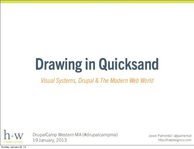 Drawing in Quicksand                            Visual Systems, Drupal & The Modern Web World                         Drup...