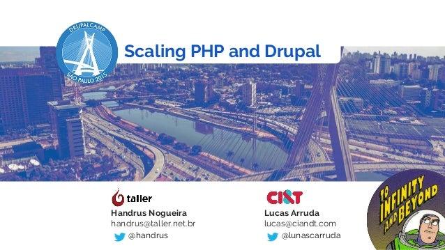 Scaling PHP and Drupal Handrus Nogueira handrus@taller.net.br @handrus Lucas Arruda lucas@ciandt.com @lunascarruda