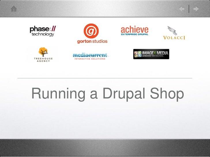 Running a Drupal Shop