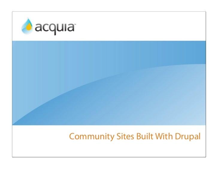 Community Sites Built With Drupal