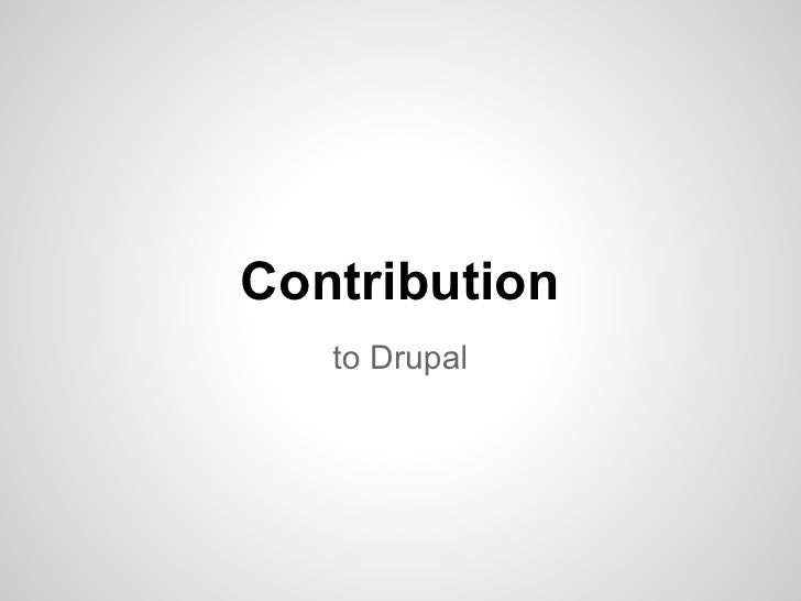 Drupal contribution