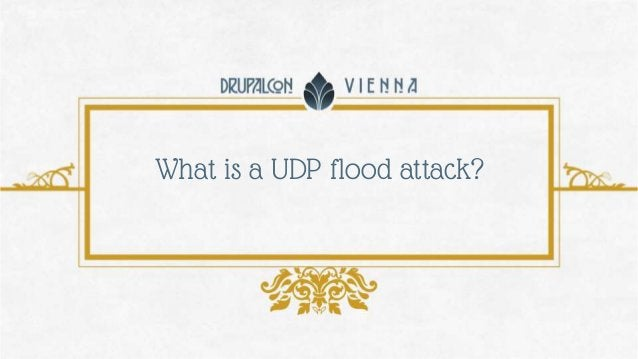 What is a UDP flood attack?
