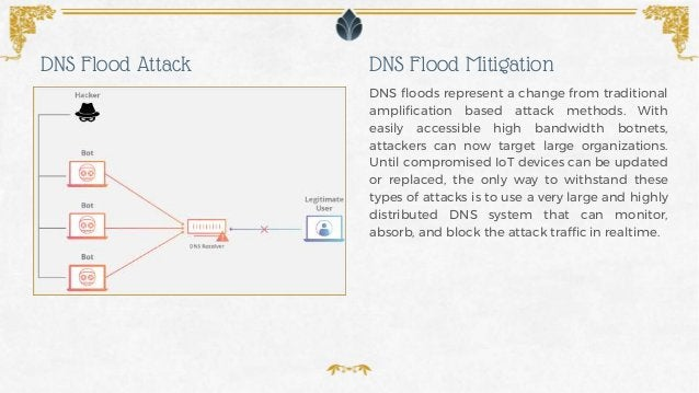DNS floods represent a change from traditional amplification based attack methods. With easily accessible high bandwidth b...