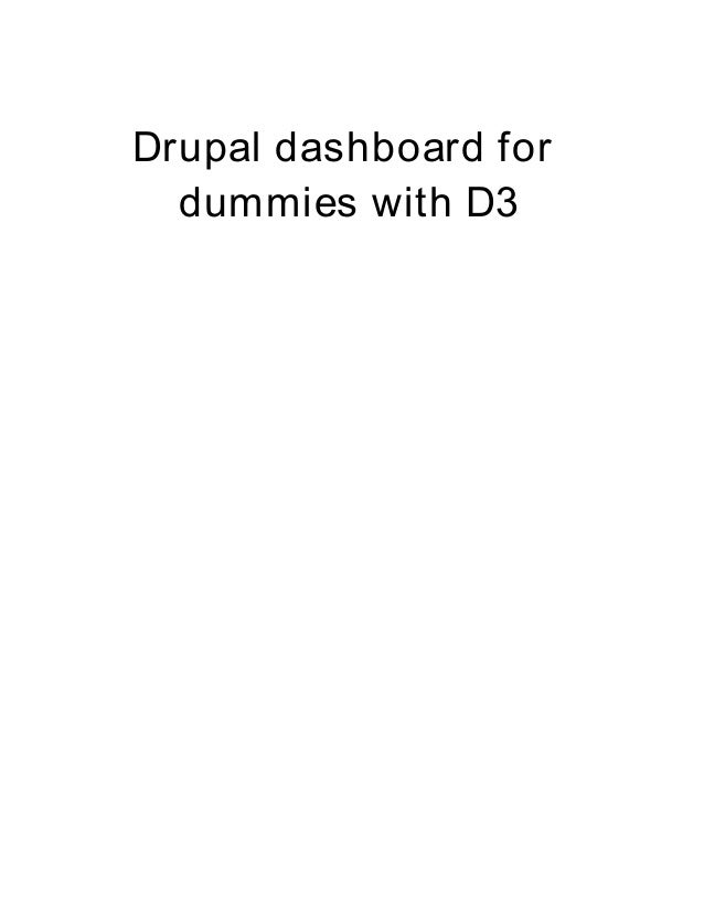 Drupal dashboard for dummies with D3