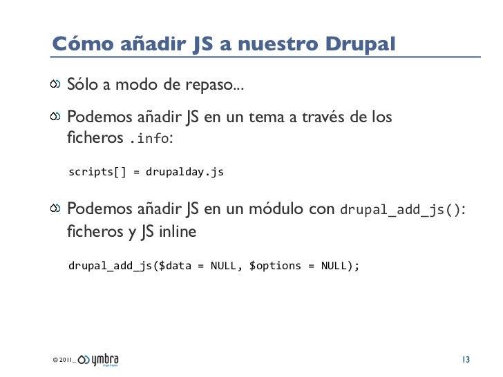 El universo JavaScript en Drupal 7