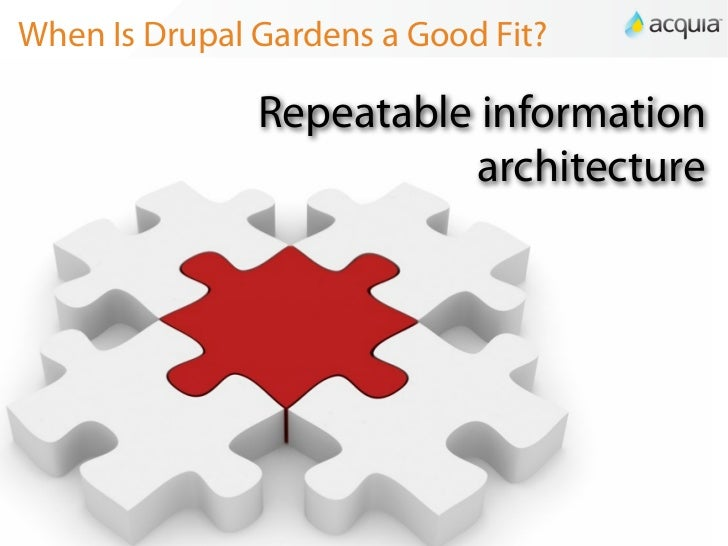 Repeatable Information Architecture; 15. When Is Drupal Gardens ...