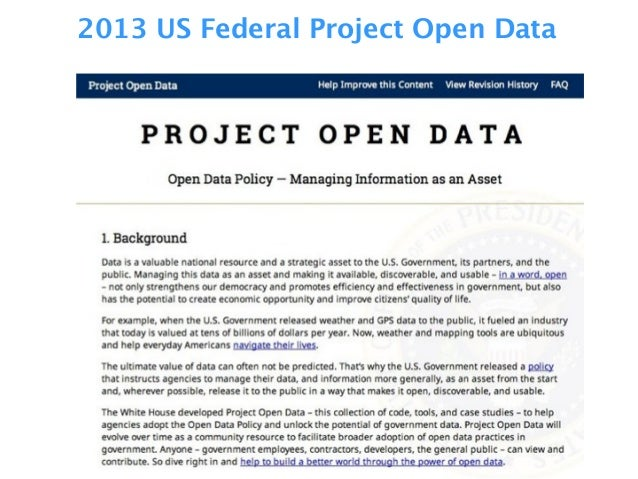 2013 US Federal Project Open Data