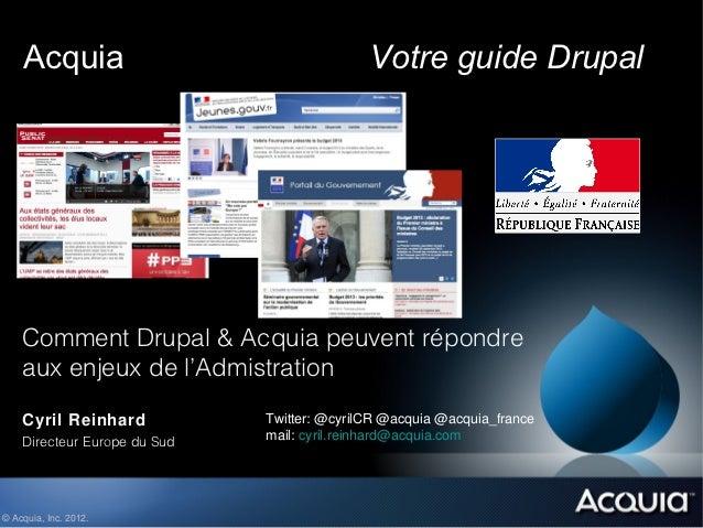 Acquia                                   Votre guide Drupal    Comment Drupal & Acquia peuvent répondre    aux enjeux de l...