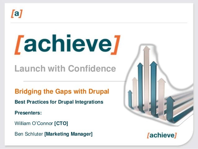 Launch with Confidence Bridging the Gaps with Drupal Best Practices for Drupal Integrations Presenters:  William O'Connor ...