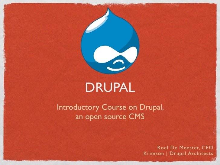 Drupal introduction4 students