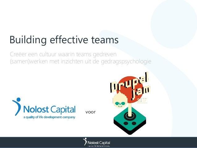 Building effective teams voor Creëer een cultuur waarin teams gedreven (samen)werken met inzichten uit de gedragspsycholog...