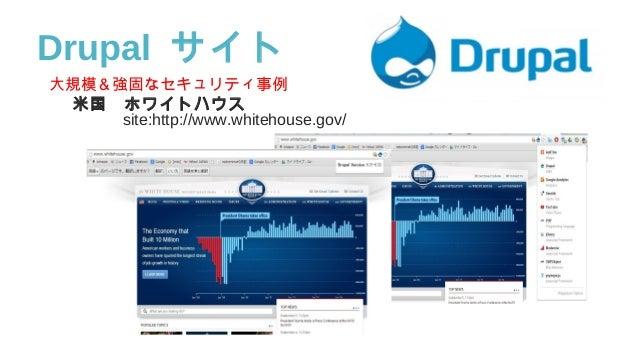 大規模&強固なセキュリティ事例 米国 ホワイトハウス    site:http://www.whitehouse.gov/ Drupal サイト