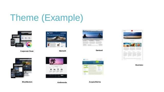 Theme (Example) Corporate Clean Marinelli Danland Business BlueMasters Andromeda Acquia Marina