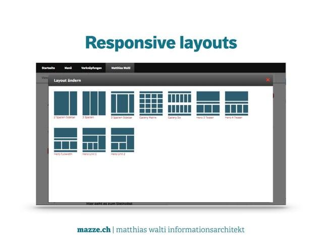 mazze.ch | matthias walti informationsarchitekt Responsive layouts