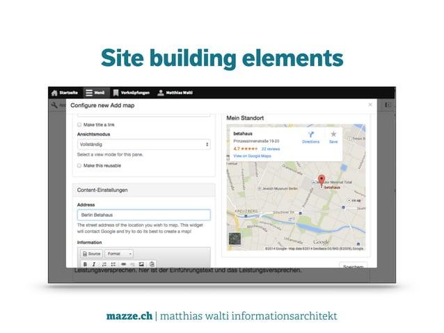 mazze.ch | matthias walti informationsarchitekt Site building elements
