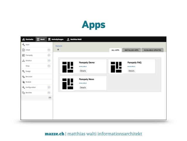 mazze.ch | matthias walti informationsarchitekt Apps
