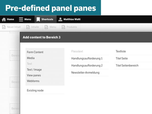 mazze.ch | matthias walti informationsarchitekt Pre-defined panel panes