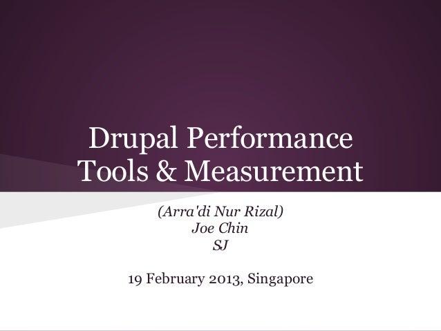 Drupal PerformanceTools & Measurement       (Arradi Nur Rizal)            Joe Chin                SJ   19 February 2013, S...