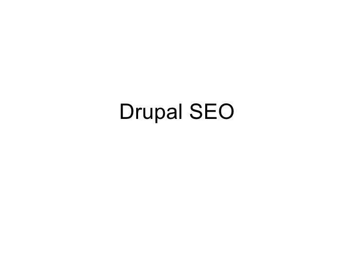 Drupal SEO