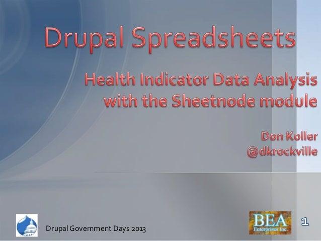 Drupal Government Days 2013Drupal Government Days 2013
