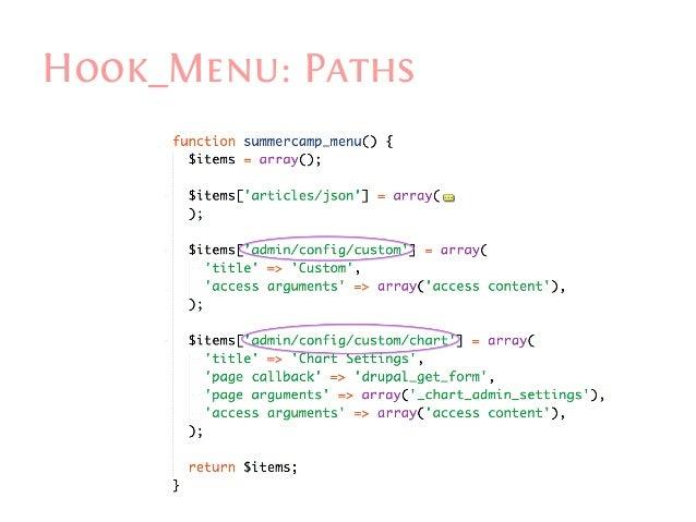 Drupal hook menu example