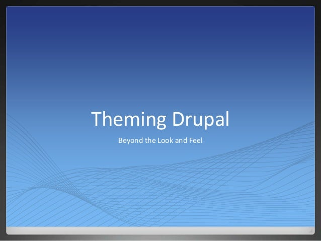 Theming Drupal  Beyond the Look and Feel