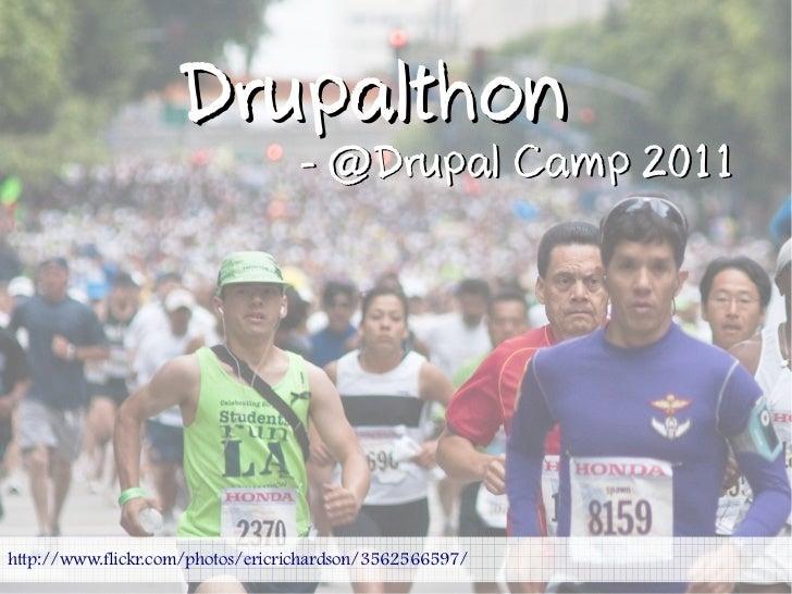 Drupalthon                                  - @Drupal Camp 2011http://www.flickr.com/photos/ericrichardson/3562566597/