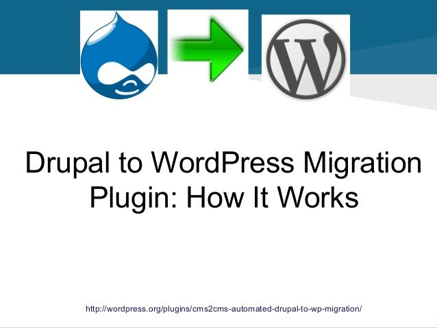 Drupal to WordPress Migration Plugin: How It Works  http://wordpress.org/plugins/cms2cms-automated-drupal-to-wp-migration/