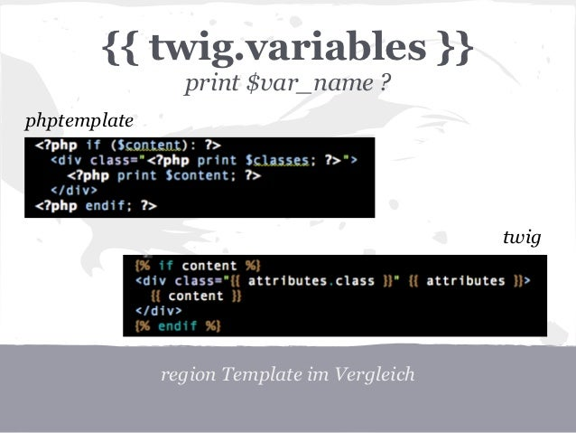 twig template variables - drupal und twig