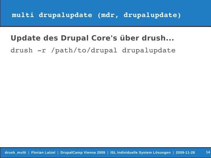 Drush update multi site study