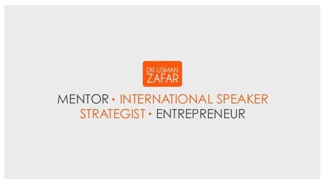 MENTOR INTERNATIONAL SPEAKER STRATEGIST ENTREPRENEUR