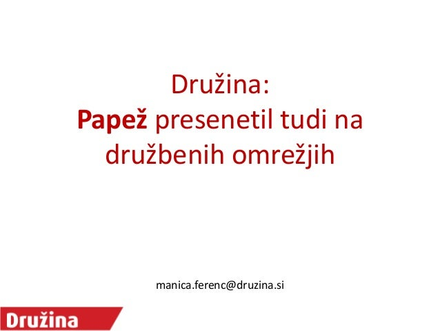 Družina: Papež presenetil tudi na družbenih omrežjih  manica.ferenc@druzina.si