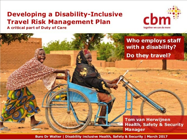 Buro Dr Walter | Disability inclusive Health, Safety & Security | March 2017 Who employs staff with a disability? Do they ...