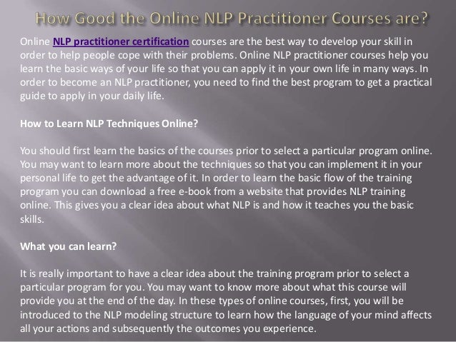 NLP Training Online and Its Benefits in Business and Sales
