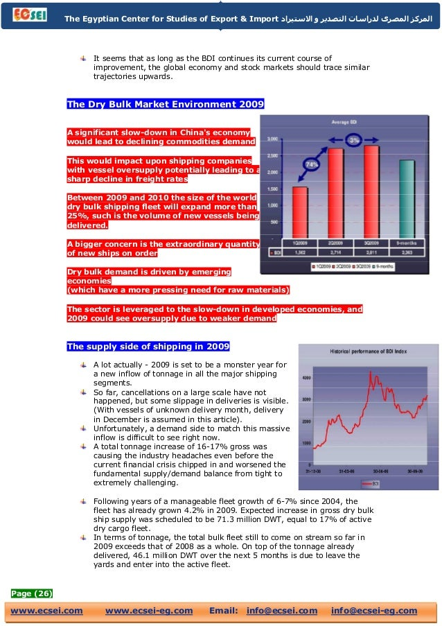 Dry bulk shipping industry report 2009
