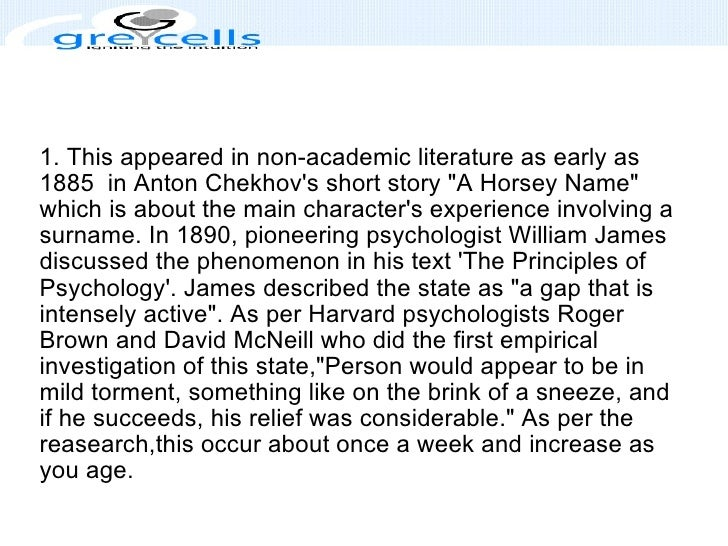 """1. This appeared in non-academic literature as early as 1885 in Anton Chekhov's short story """"A Horsey Name"""" whi..."""