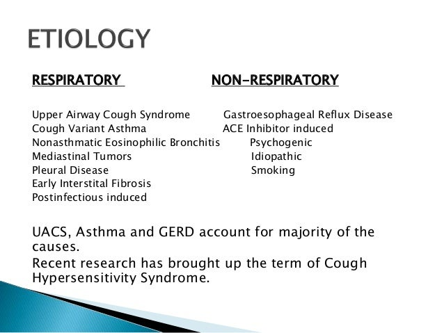Dry Cough Presentation Causes And Management