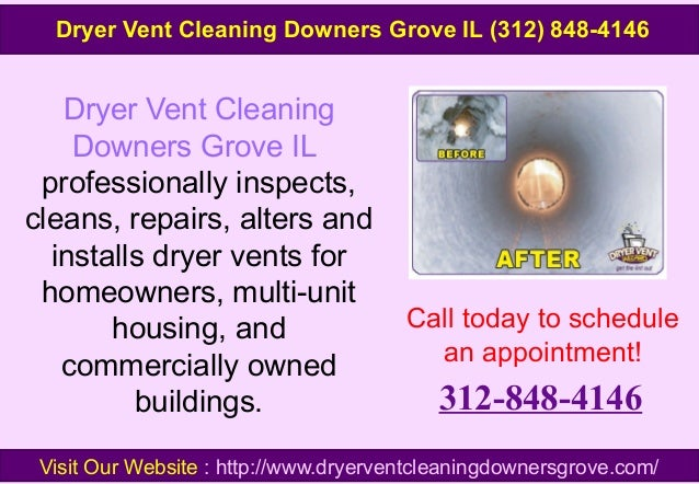 Dryer Vent Cleaning Downers Grove IL professionally inspects, cleans, repairs, alters and installs dryer vents for homeown...