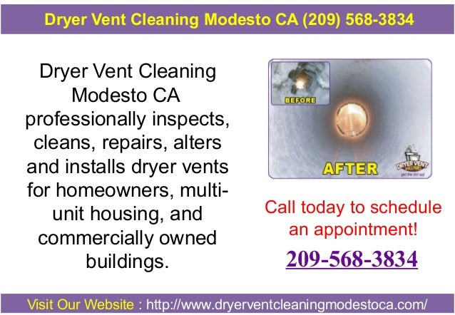Dryer Vent Cleaning Modesto CA professionally inspects, cleans, repairs, alters and installs dryer vents for homeowners, m...
