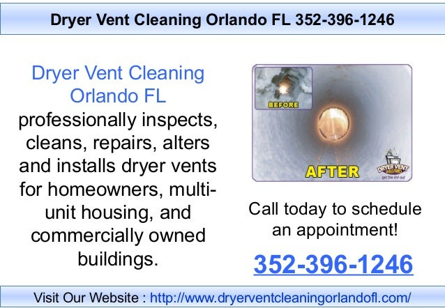 Dryer Vent Cleaning Orlando FL professionally inspects, cleans, repairs, alters and installs dryer vents for homeowners, m...