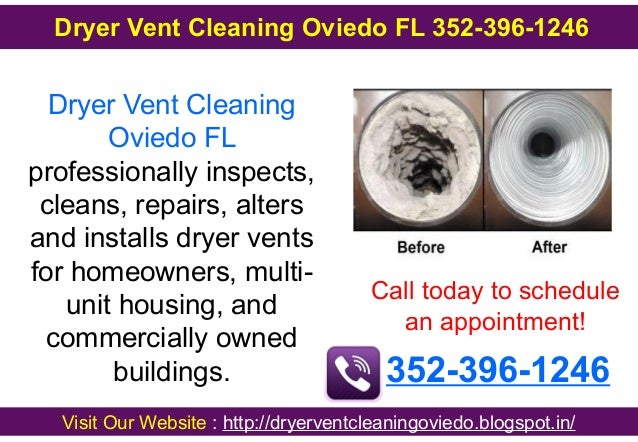Dryer Vent Cleaning Oviedo FL professionally inspects, cleans, repairs, alters and installs dryer vents for homeowners, mu...
