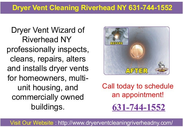 Dryer Vent Cleaning Riverhead NY 631-744-1552  Dryer Vent Wizard of Riverhead NY professionally inspects, cleans, repairs,...