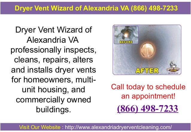 Dryer Vent Wizard of Alexandria VA professionally inspects, cleans, repairs, alters and installs dryer vents for homeowner...
