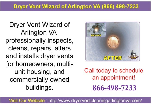 Dryer Vent Wizard of Arlington VA professionally inspects, cleans, repairs, alters and installs dryer vents for homeowners...
