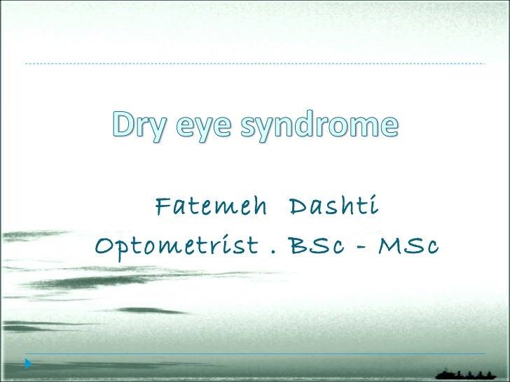 Dry eye Slide 2